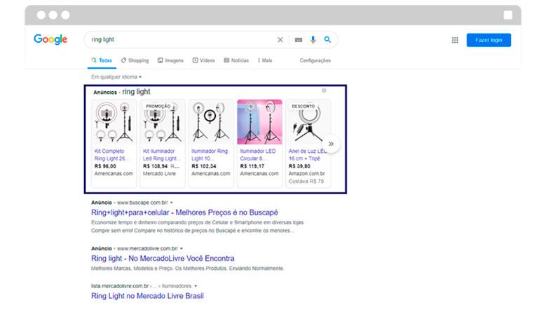 Google Shopping Página Principal